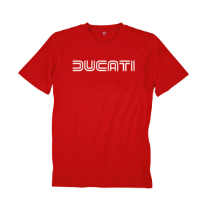 98768681 T SHIRT DUCATIANA 80'S ROUGE