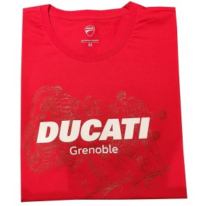 98770072 T SHIRT DUCATI GRENOBLE ROUGE