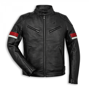98770018 BLOUSON CUIR DUCATI URBAN STRIPES